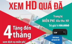 Ưu đãi đón Tết - VTVcab trang bị miễn phí đầu thu HD trên toàn quốc